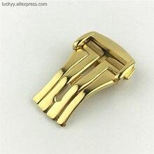 Серебряный черный золотой 4 цвета застежка 16 18 20 мм Бабочка Пряжка для мужских часов A112