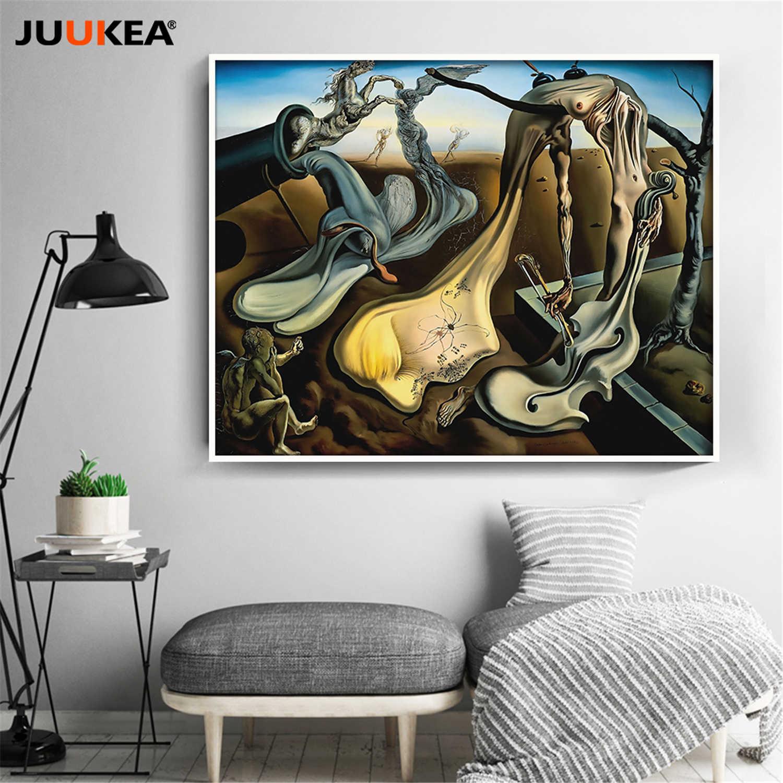 Leinwand Druck Malerei Salvador Dal Papa Lange Beine Der Abend Hoffen Violoncello Surrealismus Kunst Wand Bilder Fur Wohnzimmer Aliexpress
