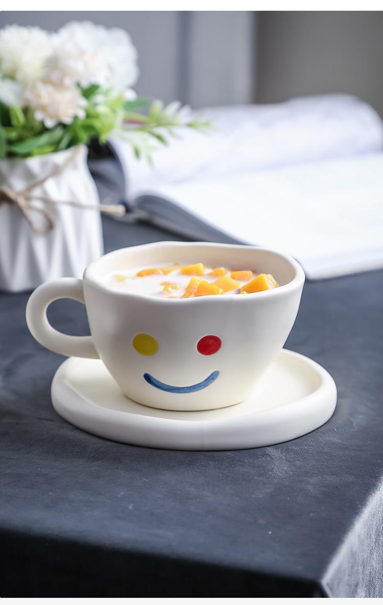 conjunto xícara de leite tazza colazione canecas bd50cs