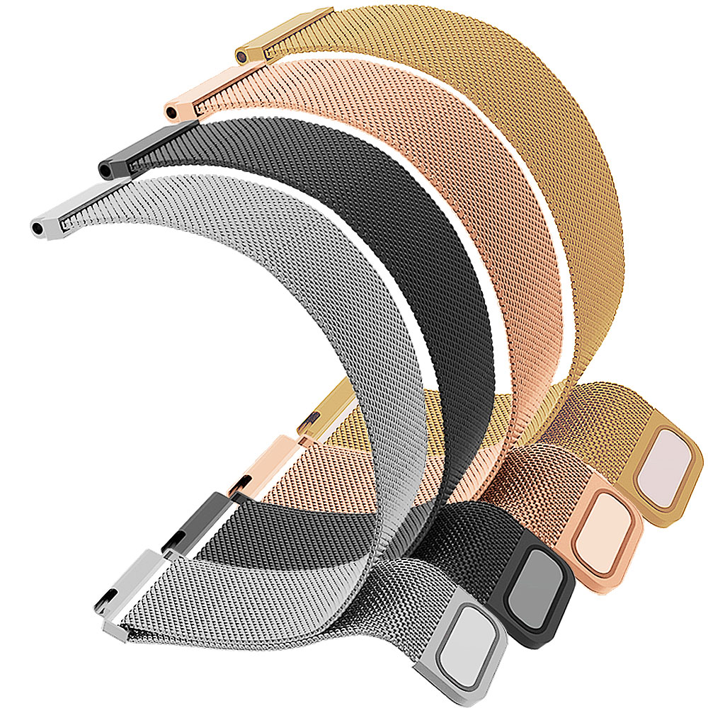 Universal milanese loop strap 20mm 22mm For Galaxy watch 42mm 46mm For Samsung Active Gear S2 S3 Convex buckle watchband 14-24mm