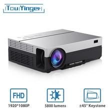Touyinger t26l t26k 1080p led completo hd projetor vídeo beamer 5800 lúmen fhd 3d cinema em casa usb (android 9.0 wifi opcional)