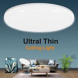 Plafonniers LED plafonnier 220V 30W 50W panneau lumineux monté en Surface lampe ronde lampes de cuisine pour éclairage intérieur