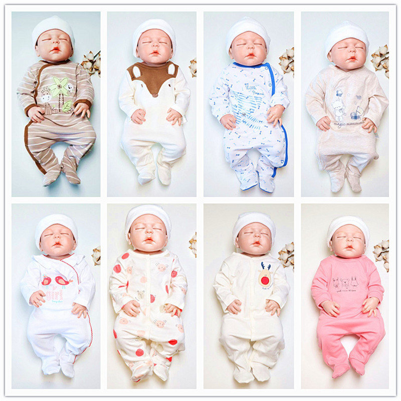 SAILEROAD Cartoon Cute Animals Print Baby Onesies Newborn Footed Pajamas Roupa De Bebes Infant Cotton Jumpsuit Baby Girl Clothes