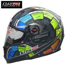 LS2 FF358 Samuria Full Face Motorcycle Helmet Man Racing Motocross Helm