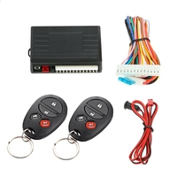 Universal Car Remote Central Kit Door Lock Locking Vehicle Keyless Entry System with Remote Controllers Car Alarm System
