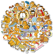 50PCS Cute Garfield Waterproof Sticker for Skateboard Hydro Flask Laptop Suitcase Decal Animal Cartoon Cat Wall Stickers