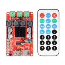 TPA3116 amplificador de altavoz estéreo, 2x50W, receptor y amplificador de Audio bluetooth, decodificador de tarjeta TF con mando a distancia