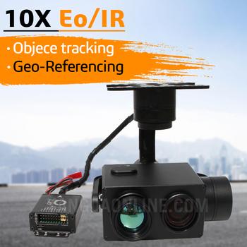 Aparat z zoomem do drone EO IR podwójny czujnik 10X noktowizor ze śledzeniem i geotagowaniem do wyszukiwania nadzoru Drone Iinspection tanie i dobre opinie JUANTEC 360°*220° O 2MP 1080P (Full-HD) Microsd tf 879g Eagle Eye-10IE Double Lens Optyczny stabilizator obrazu