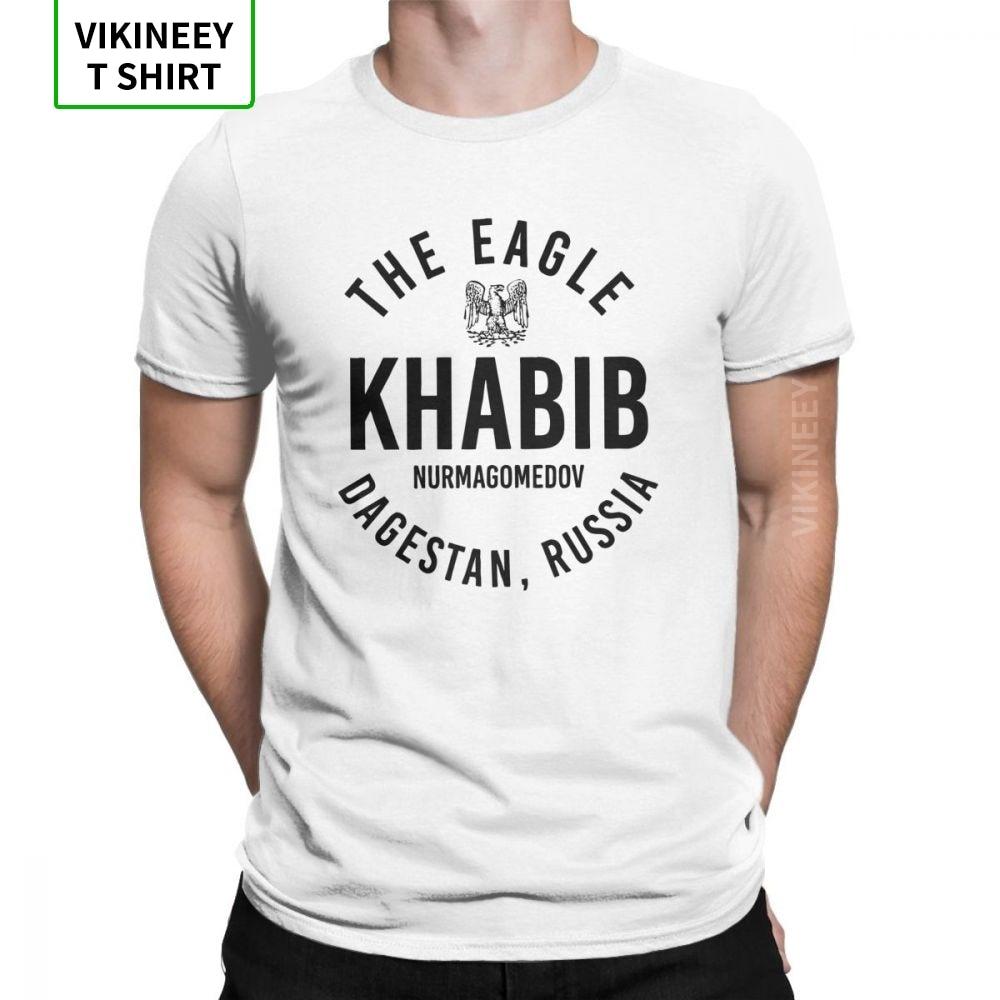 The Eagle Khabib Nurmagomedov Dagestan Russia T-Shirt For Men Short Sleeve Novelty Tees O-Neck Cotton Clothes Classic T Shirt