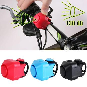 Bike Electronic Loud Horn 130 db Warning Safety Electric Bell Police Siren Bicycle Handlebar Alarm Ring Bell Cycling Accessories bicycle bike handlebar ball air horn trumpet ring bell loudspeaker noise maker free shipping