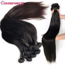 30 32 34 36 38 fasci di capelli umani lisci indiani Remy da 40 pollici colore naturale doppie trame 1/3/4/5 pezzi estensioni dei capelli