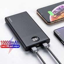 ROCK Power Bank 10000mAh Portable Quick Charge PowerBank USB
