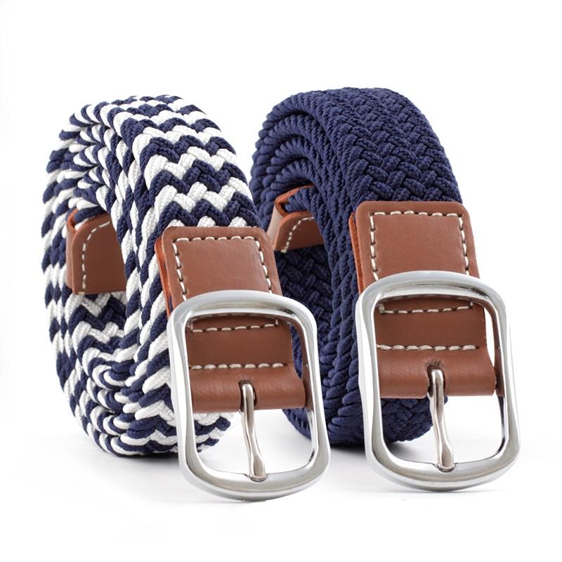 2020 Brand Design Women Alloy Leather Buckle Belt For Woman Elastic Waist Harajuku Style Leather Elastic Waistband Lady Belt