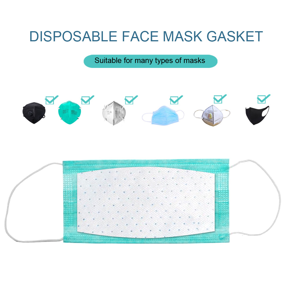 100Pcs/Pack Disposable 3-Ply Masks Gasket Anti Dust Mouth Face Mask Replacement Pad For All Face Masks Cotton Mask Mat
