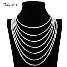 Латунь 16 24 дюймов Теннис Цепочки и ожерелья короткое ожерелье