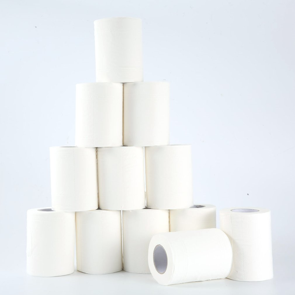12 Rolls Natural Paper Towels Portable High Quality Toilet Paper For Office For Family Restaurant Paper Towel
