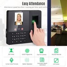 Биометрическая система контроля доступа к часам с функцией распознавания отпечаток лица паролем с 2,8 дюймовым tft-экраном