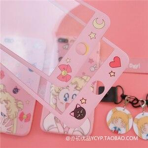 Image 2 - Per Redmi note 8pro sailor moon custodia simpatico cartone animato rosa ragazza cover per telefono per Xiaomi note7pro K20 pro + pendente + cinturino lungo