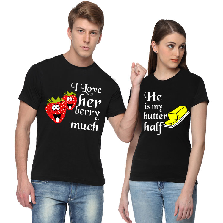 Berry Much And Butter Half Couple T hirt