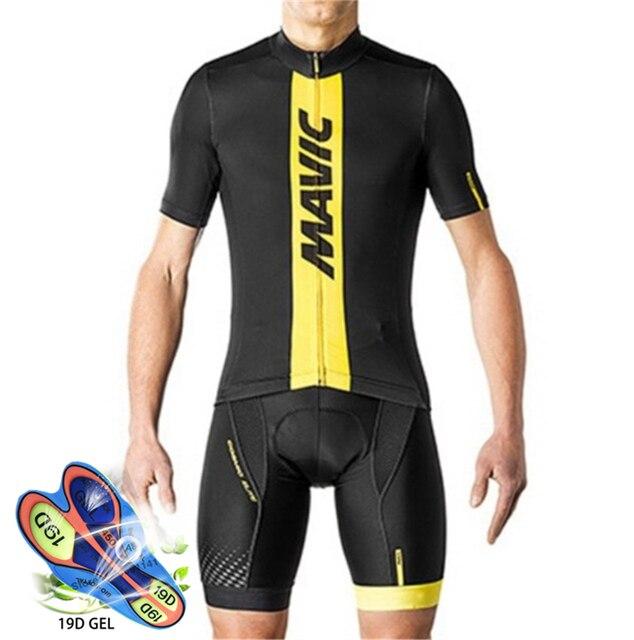 Camisa de ciclismo 2020 pro equipe mavic ropa ciclismo hombre verão manga curta jerseys roupas ciclismo triathlon bib shorts terno 1