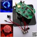 Сферический поворотный светодиодный комплект 56 лампа POV вращающиеся часы части DIY электронный сварочный роторный набор ламп