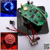 Spherical rotary LED kit 56 lamp POV rotary clock parts DIY electronic welding rotary lamp Kit