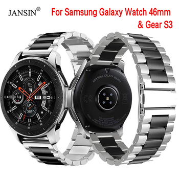 22mm Width Universal Stainless Steel Band For Samsung Galaxy Watch 46mm /Gear S3 Classic/S3 Frontier Watch Strap Metal Wristband stainless steel strap for samsung galaxy watch band 46mm gear s3 frontier classic straps bracelet 22mm wrist replacement band