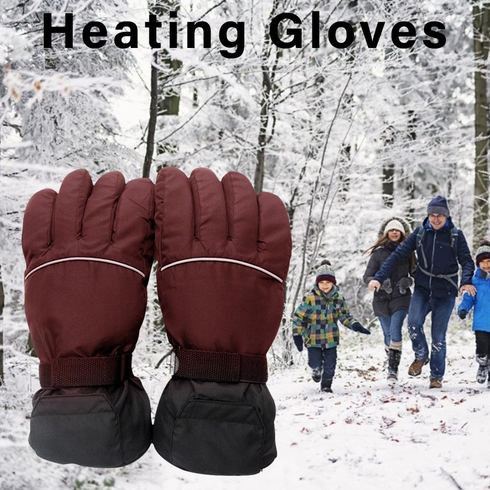 4.5V Electric Heating Gloves Battery Powered Thermal Heated Gloves For Men And Women Five-Finger Winter Hand Warmer Ski Gloves