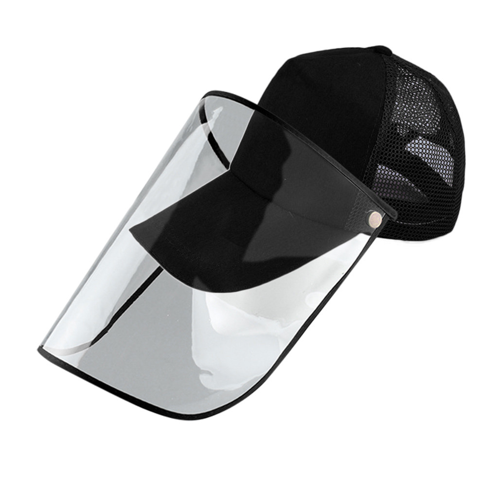 Dustproof Windproof Mesh Design Baseball Cap Face Protection Detachable Shield Screen Mask Anti-Dust Peaked Hat #3