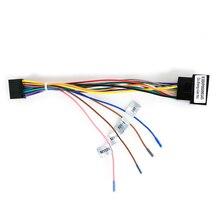 Автомобильный Радио Стерео головное устройство 16Pin жгут проводов адаптер для Volkswagen Универсальный Android кабель питания разъем