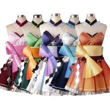 Brdwn VOCALOID Kimagure Mercy Hatsune Miku Megurine Luka Yowane Haku Megpoid Gumi Teto Cosplay Costume Kimono Style Dress