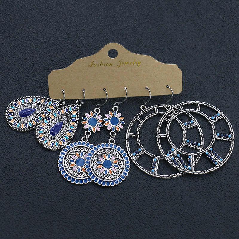 Brincos clássicos redondos, multicolor miçangas conjunto para mulheres étnicas boho borla pena longa sonhador brincos joias