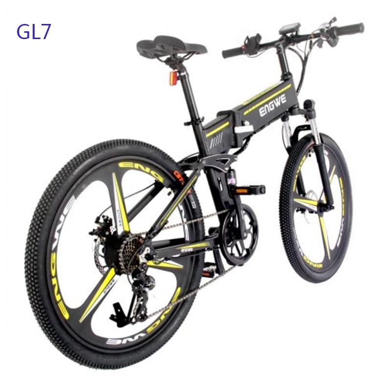 Vélo électrique 48V12.5A batterie au Lithium 26 pouces en aluminium pliant vélo électrique 400W puissant montagne ebike neige/plage e vélo