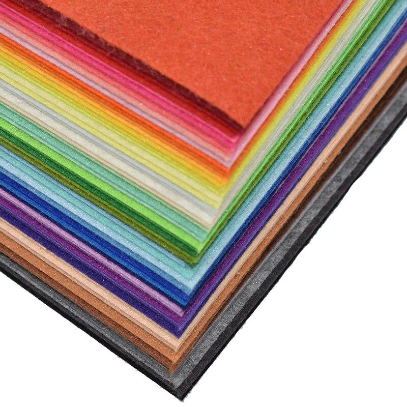 1pc Handmade Felt Fabric Flowers Diy Craft Feltro Para Artesanato For Dolls Fieltro Felting Wool30/15cm 60 Colors