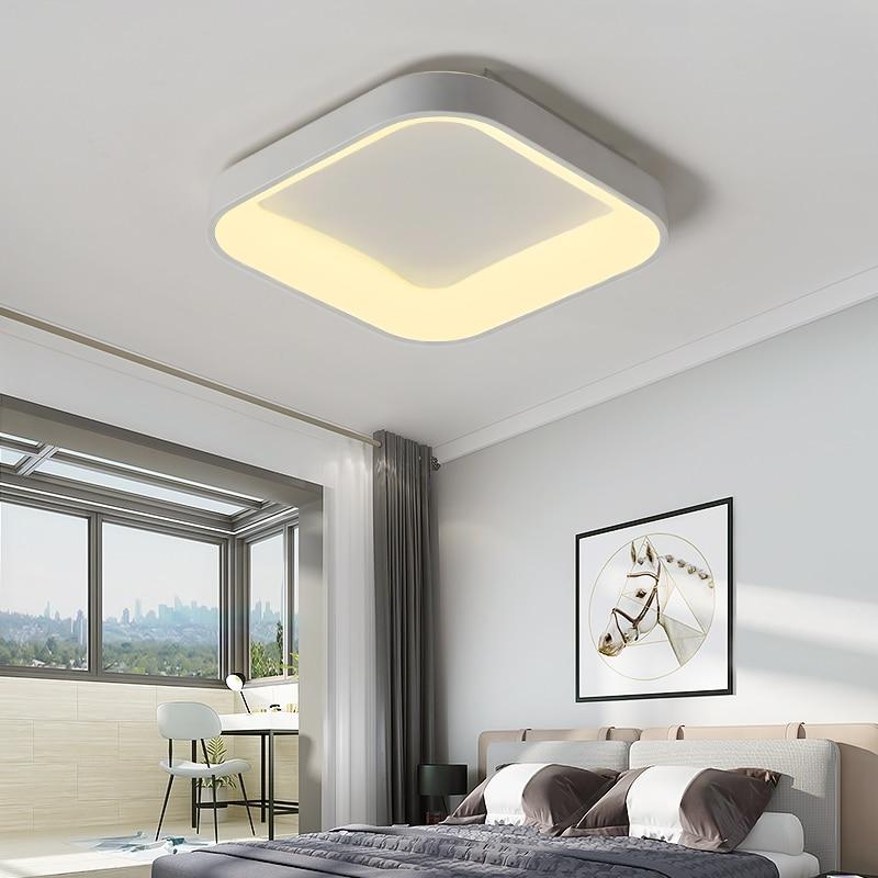 lowest price BOTIMI 220V 110V Ceiling Chandelier For Living Room Modern White Round Lustre Wooden Bedroom Lights Surface Mounted Indoor Lamps