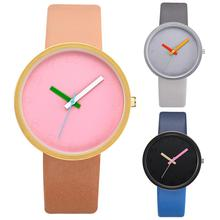 Fashion Couple Watches Simple Casual Personality Faux Leather Digital Analog Qua
