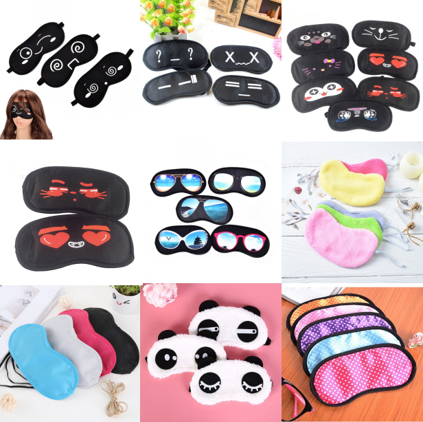 Hot Sell Black Travel Sleeping Eye Mask Black Eye Shade Sleep Mask Black Mask Bandage On Eyes For Sleeping Emotion Sleep Mask