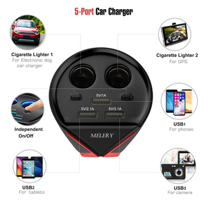 Image 3 - מטען לרכב כוס כוח מתאם 3 USB 3.1A יציאות 2 שקעי מצית מתח ניטור עבור iPhone סמסונג Huawei Xiaomi