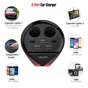 Image 3 - Carregador de carro copo adaptador de energia 3 portas usb 3.1a 2 soquetes cigarro mais leve monitoramento tensão para iphone samsung huawei xiaomi
