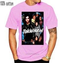 Camisa de t masculina tokio hotel banda de rock alemão 2001 fruta do tear pop punk vtg agradável camiseta novidade tshirt feminino