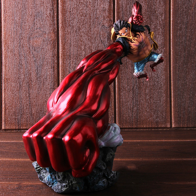 new <font><b>One</b></font> <font><b>Piece</b></font> Gear 4 <font><b>Luffy</b></font> Action Figure Monkey D <font><b>Luffy</b></font> Gear Four PVC Collectible Model Toy Boy's Christmas present image