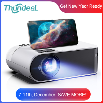 ThundeaL TD60 Mini Projector Portable WiFi Android 6.0 Home Cinema for 1080P Video Proyector 2400 Lumens Phone Video 3D Beamer 1