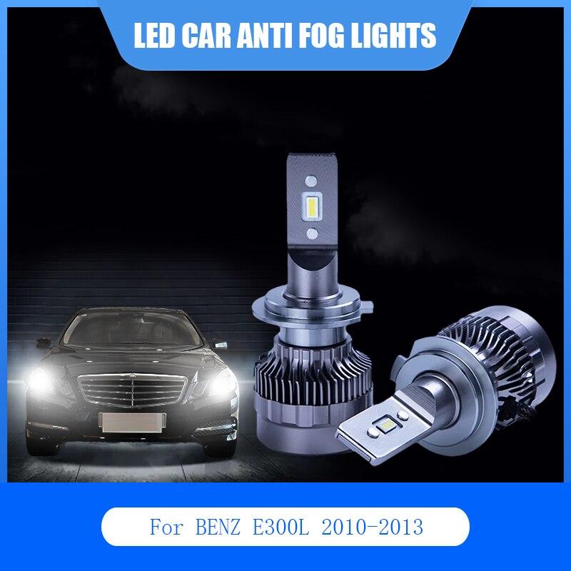 2 шт. для BENZ E300L 2010-2013 светодиодный автомобильный светильник Анти-туман лампа H7 881 6000K 12V авто светодиодный светильник головной светильник лам...