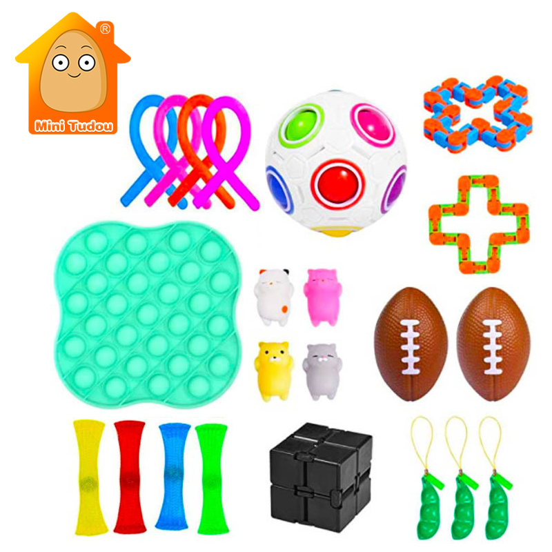 Fidget Toy Mesh Antistress-Kit Autism Anxiety Relief Sensory Plastic Adult Strings Funny