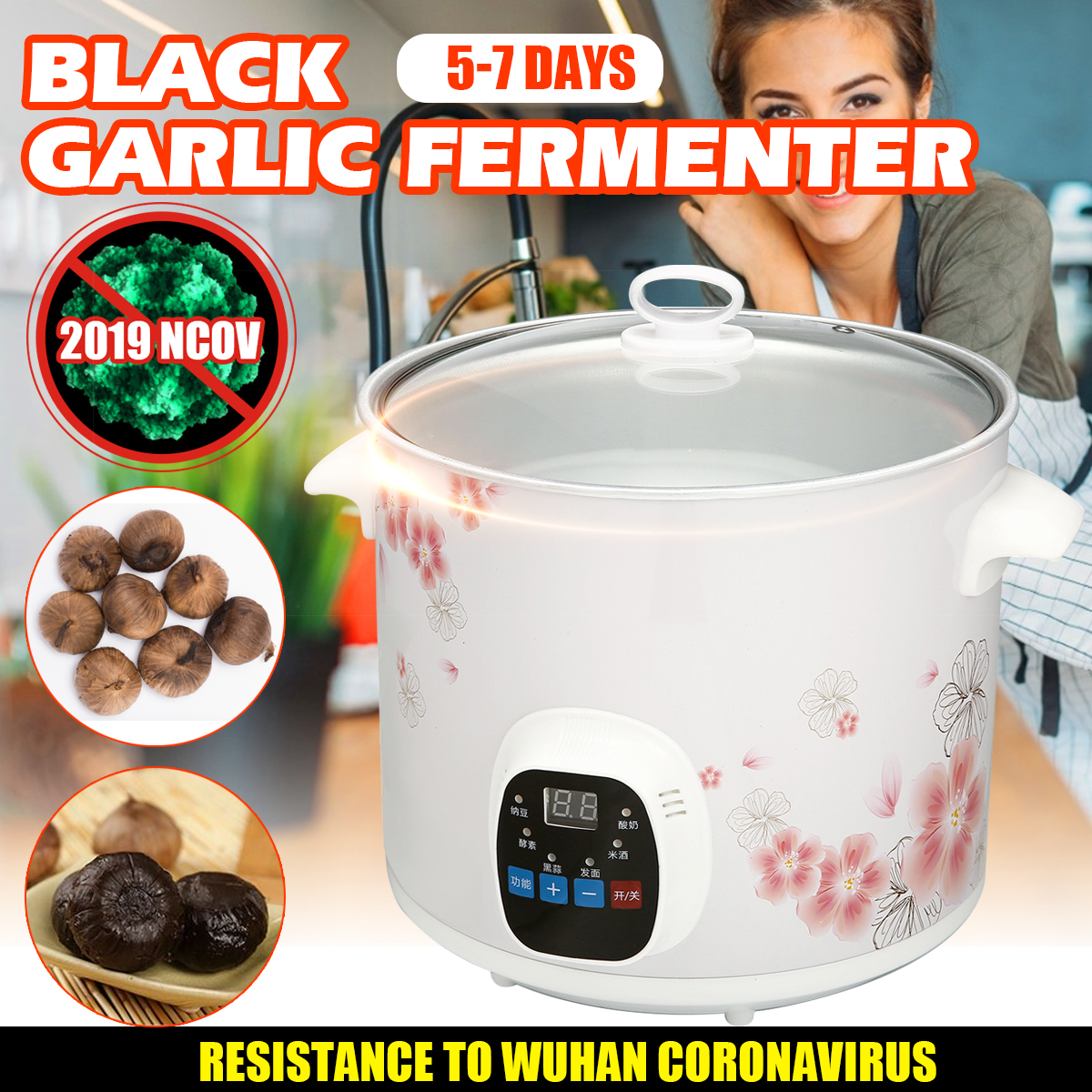 6L Large Capacity Black Garlic Fermenter Black Garlic Ferment Box Smart Fermentation Machine Intelligent Control Garlics Maker