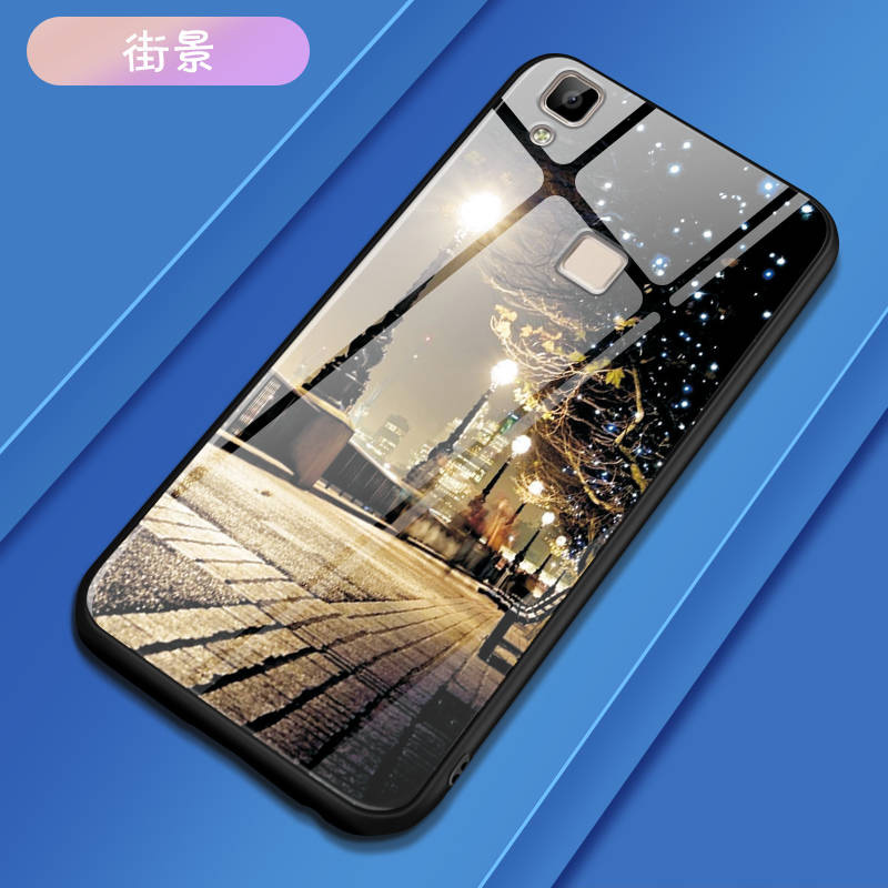 Colorful Tempered Glass <font><b>Case</b></font> For <font><b>vivo</b></font> V3 Max <font><b>Case</b></font> 5.5 inch Back Cover For <font><b>vivo</b></font> V3 Max <font><b>V3Max</b></font> <font><b>Case</b></font> Cover Shell Phone Bag Capa image