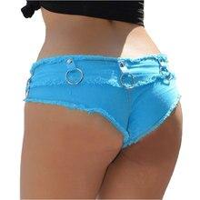 Sexy Women Shorts 2020 New Fashion Denim Cotton Shorts Low Waist Iron Hoop Mini Super Jeans Booty Beach Shorts Clubwear 5 Colors