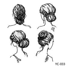 AZSG Pretty Girl's Hairstyle Clear Stamps For DIY Scrapbooking/Card Making/Album Decorative Silicone Stamp Crafts