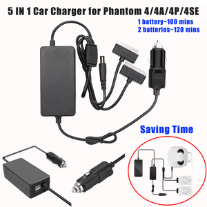 Image 1 - 5 IN 1 Car Vehicle Charger Battery Remote Control Power Charger Outdoor Multi Charging Hub For DJI Phantom 4 4Pro 4Advance 4SE
