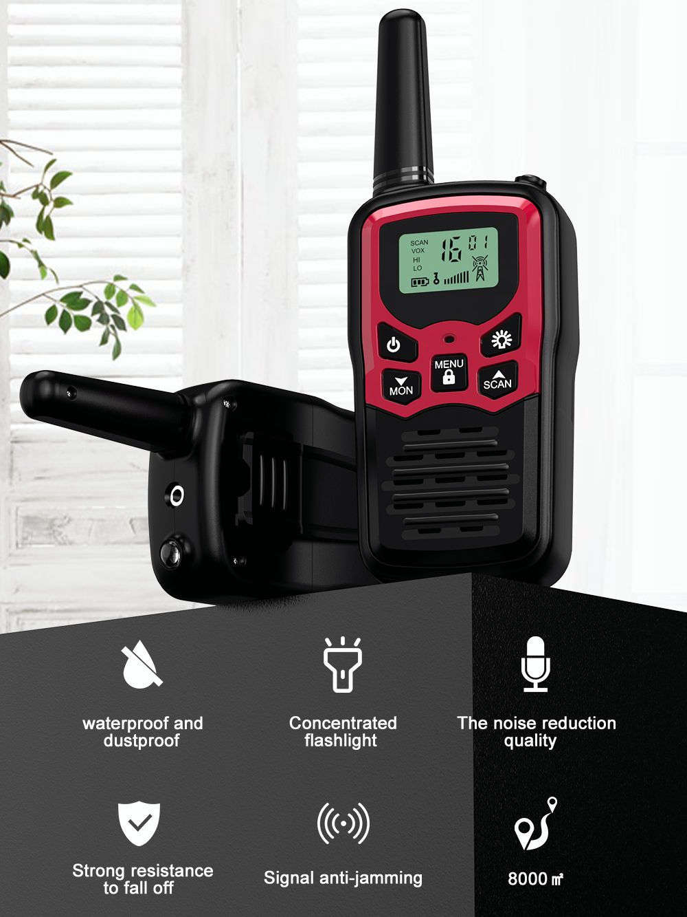 Walkie-Talkie Transceiver Ham-Radio Communicator VHF Handheld Mini High-Power Portable
